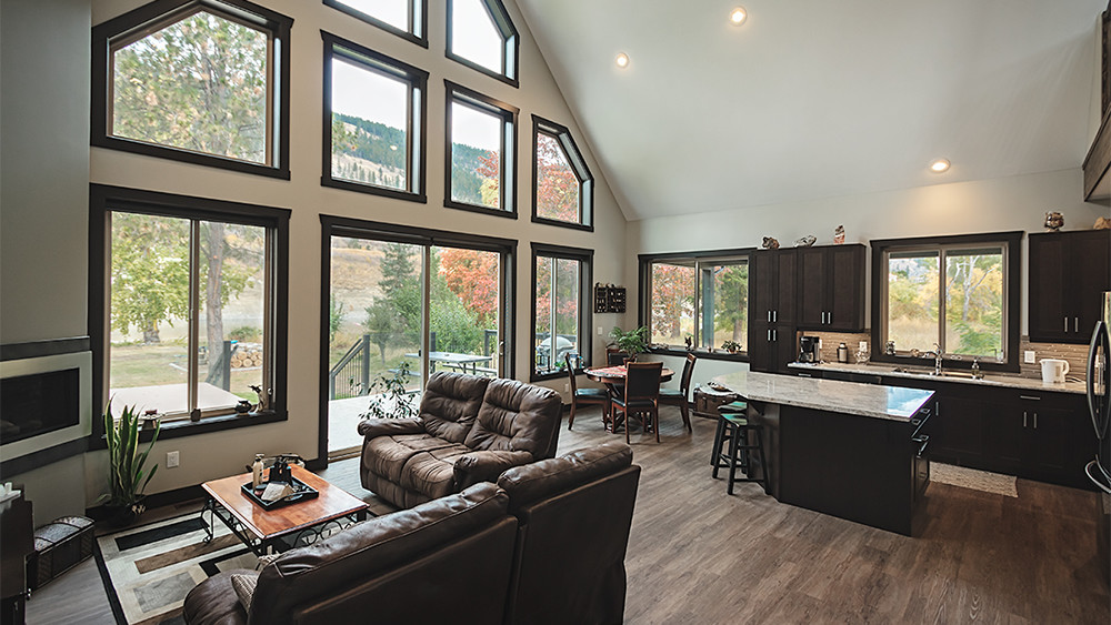 shuswap home builder living room